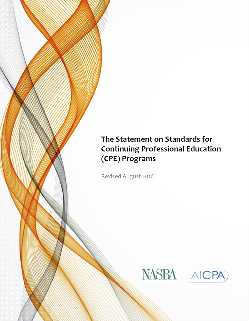 Statement on Standards for CPE PDF download